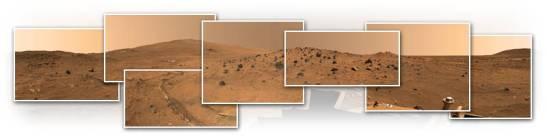 Las fotografías fueron tomadas por el robot Spirit a lo largo de 5 meses, mientras el robot no podía moverse en el invierno marciano.